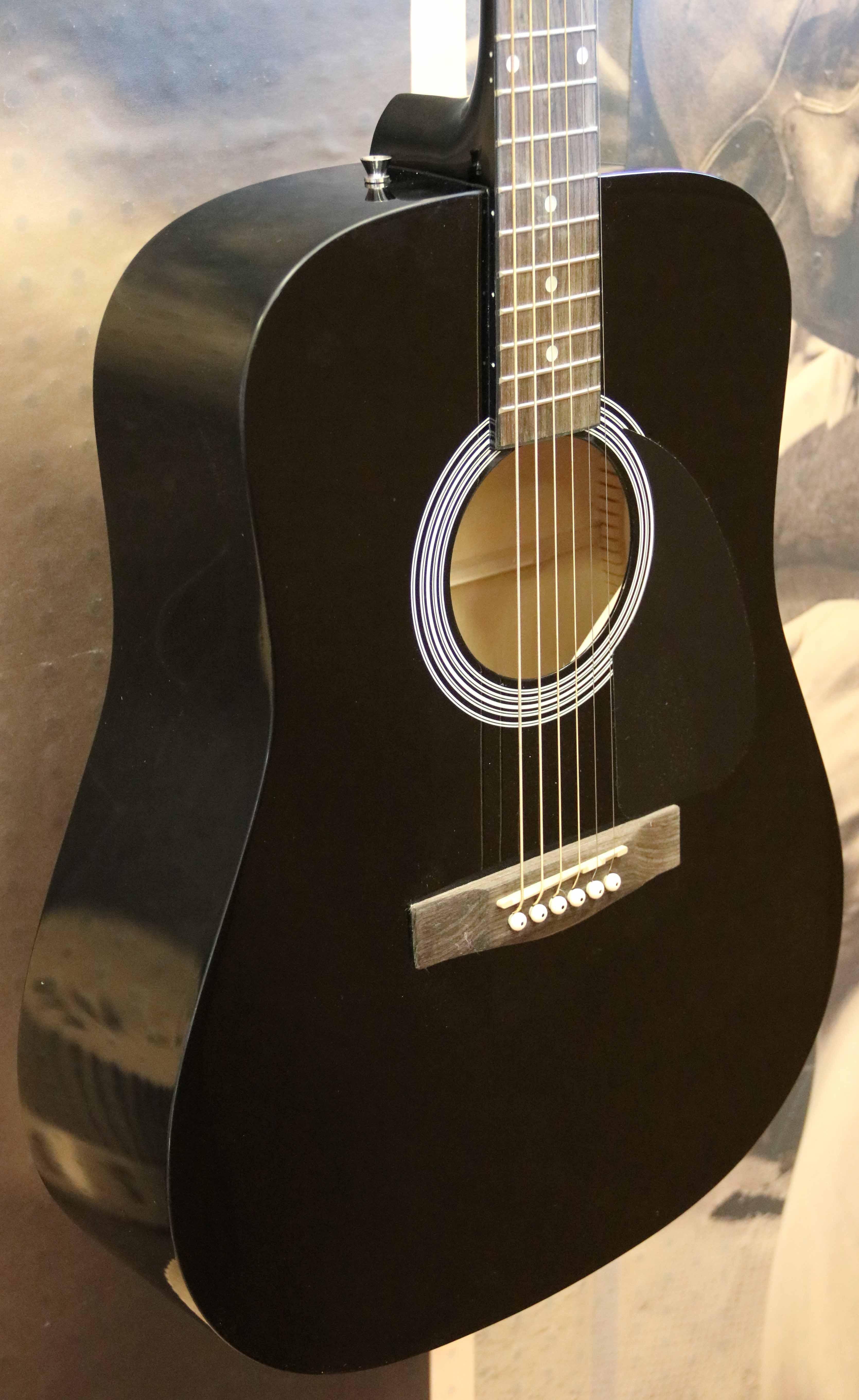 4a51b04514 FENDER FA-100 DREADNOUGHT Acoustic Guitar - Black - $119.99 | PicClick