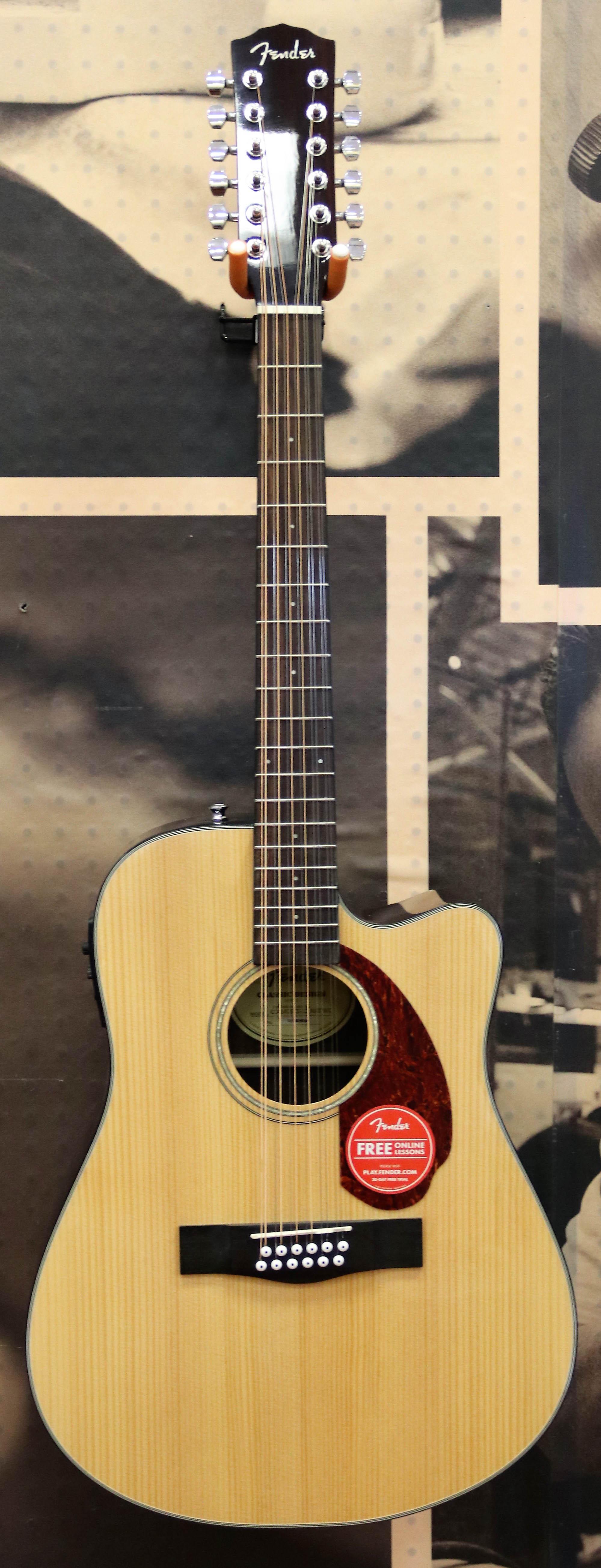 fender cd 140sce 12 dreadnought acoustic electric guitar 12 string natural ebay. Black Bedroom Furniture Sets. Home Design Ideas