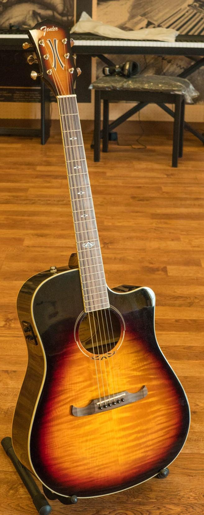 fender t bucket 300 acoustic electric guitar rosewood 3 color sunburst ebay. Black Bedroom Furniture Sets. Home Design Ideas
