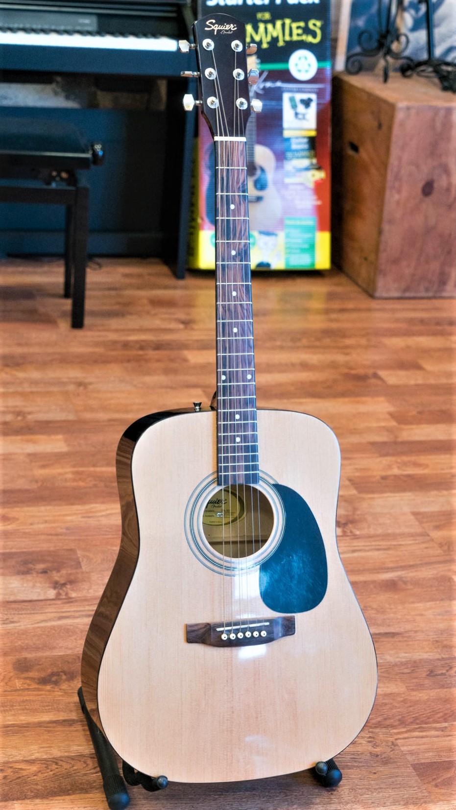 squier by fender sa 50 acoustic guitar natural ebay. Black Bedroom Furniture Sets. Home Design Ideas