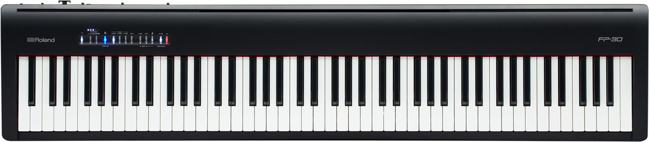 roland fp 30 88 keys digital portable piano black for sale online ebay. Black Bedroom Furniture Sets. Home Design Ideas