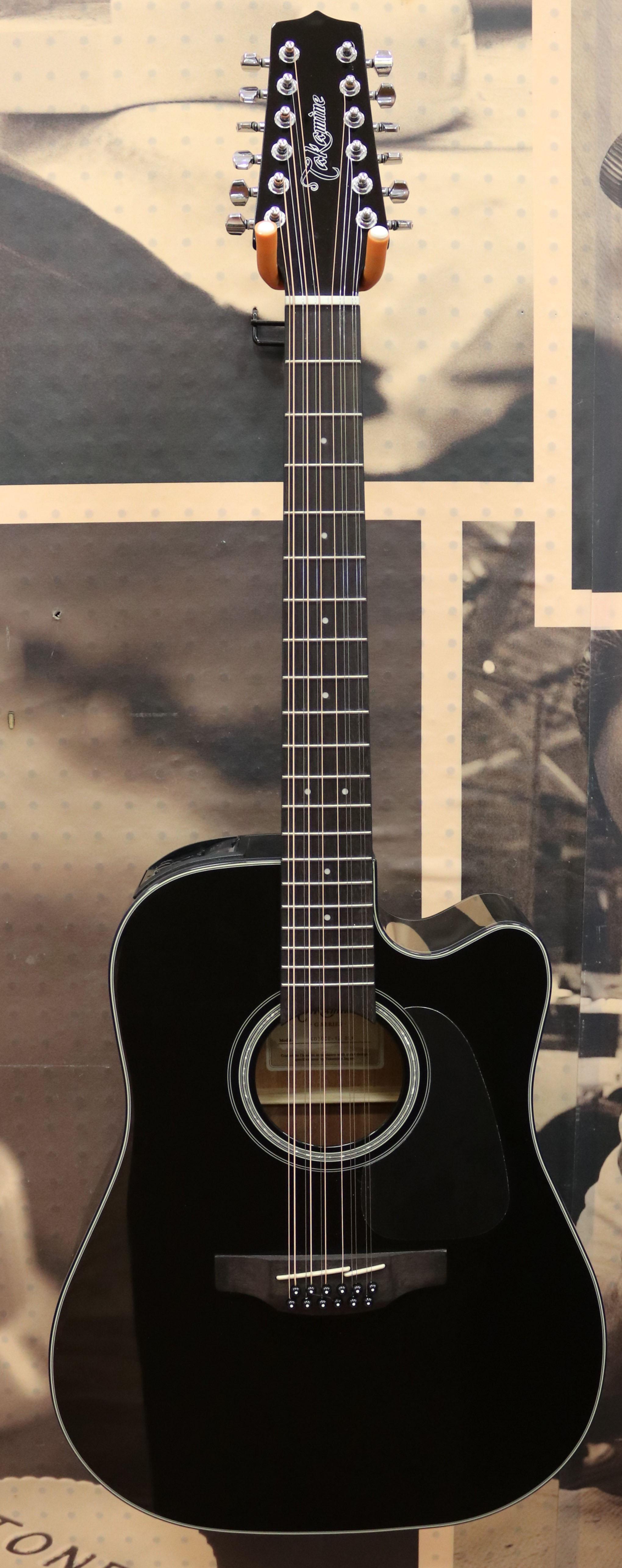 takamine gd30ce12 12 string dreadnought acoustic electric guitar black ebay. Black Bedroom Furniture Sets. Home Design Ideas