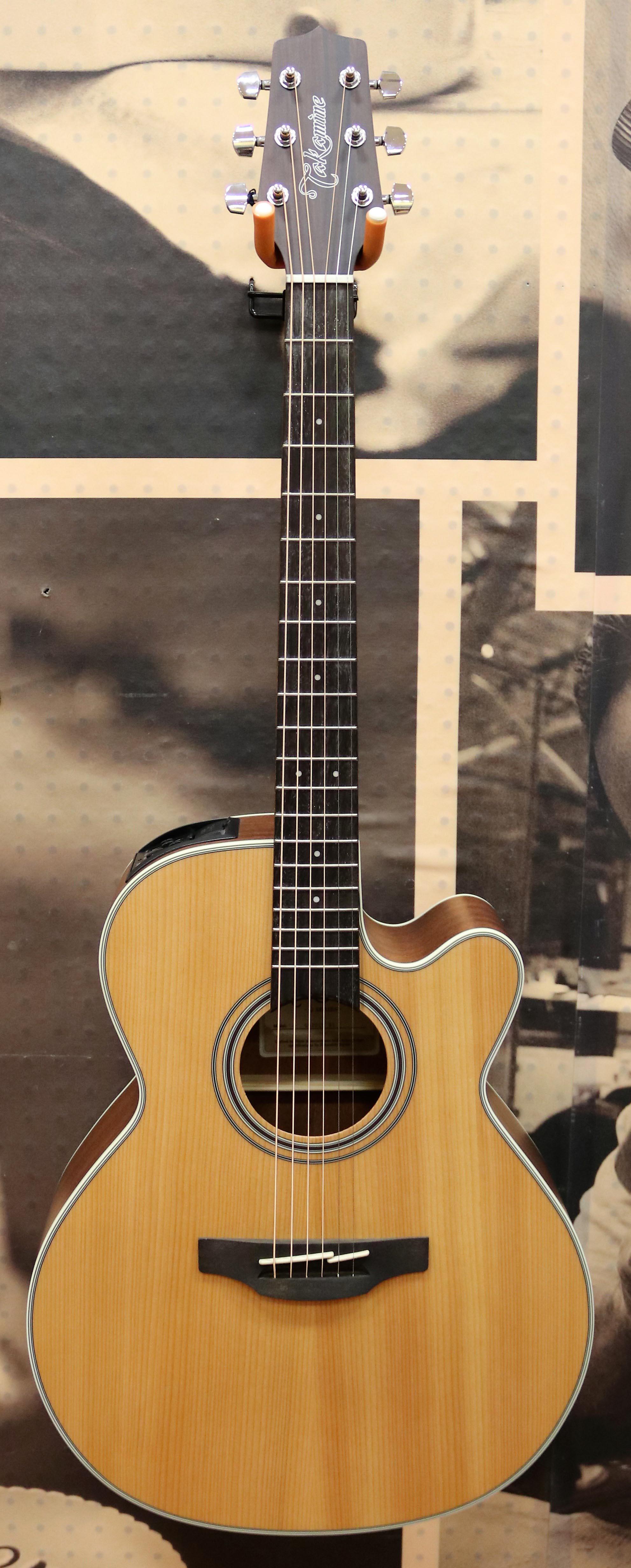 Musical Instruments & Gear Takamine Gf30cenat Fxc Cutaway Acoustic-electric Guitar Natural W/ Hard Case Big Clearance Sale