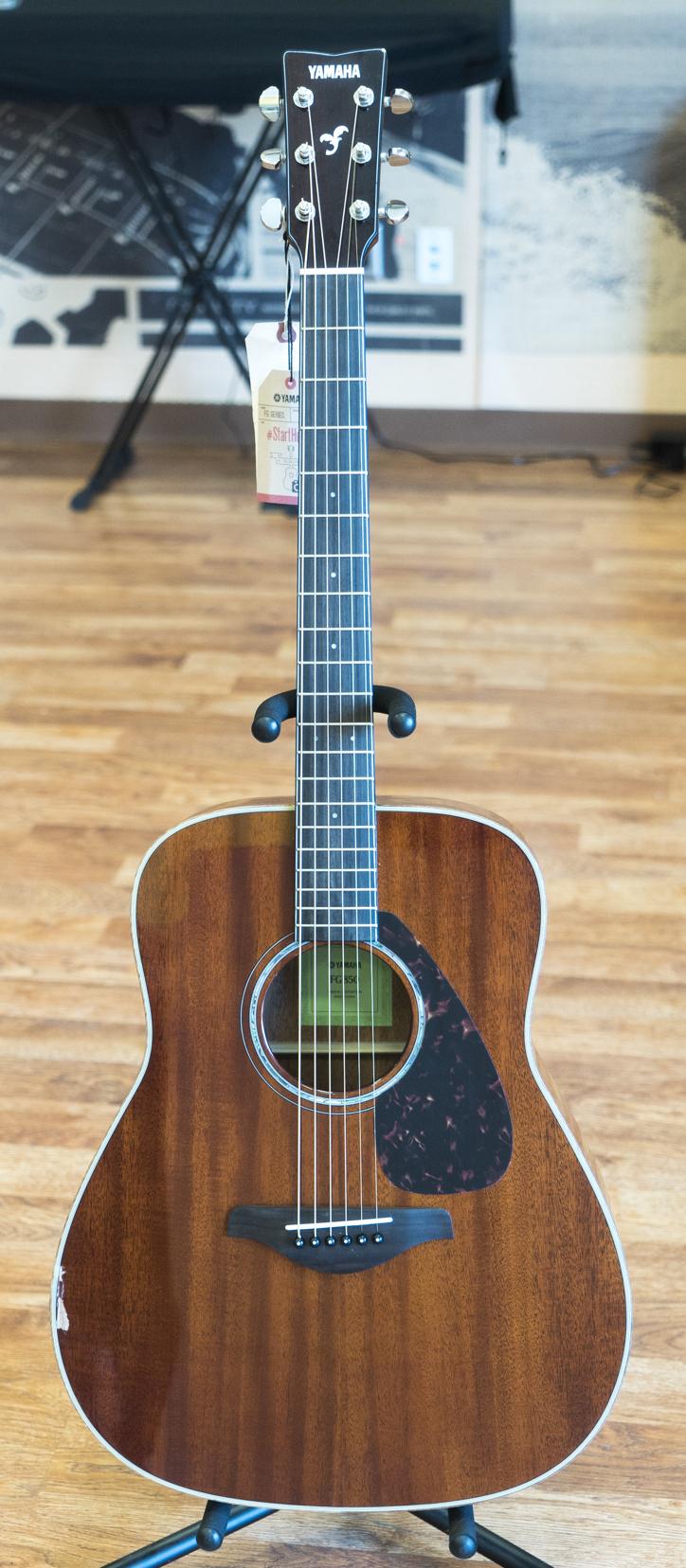 Yamaha fg850 acoustic guitar natural mahogany ebay for Yamaha acoustic guitar ebay