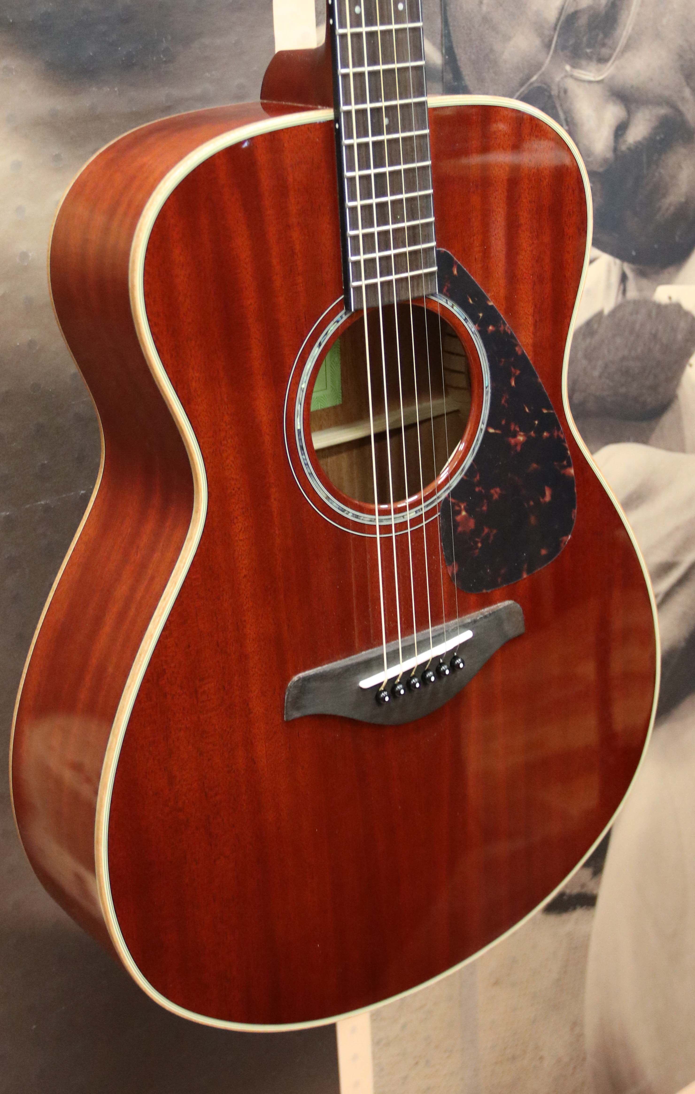 yamaha fs850 solid top small body acoustic guitar natural mahogany 889025104067 ebay. Black Bedroom Furniture Sets. Home Design Ideas