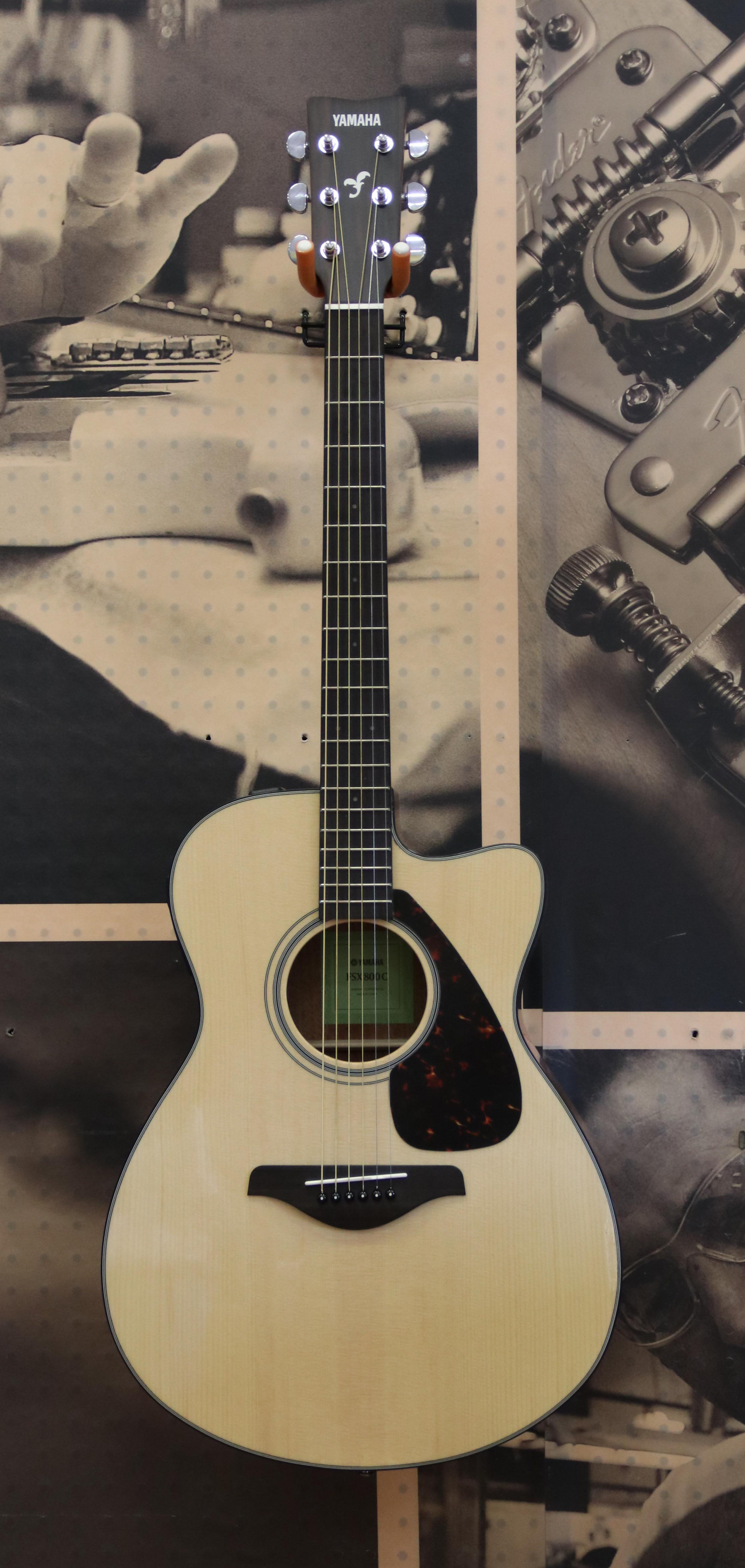 yamaha fsx800c solid top small body acoustic electric guitar natural ebay. Black Bedroom Furniture Sets. Home Design Ideas