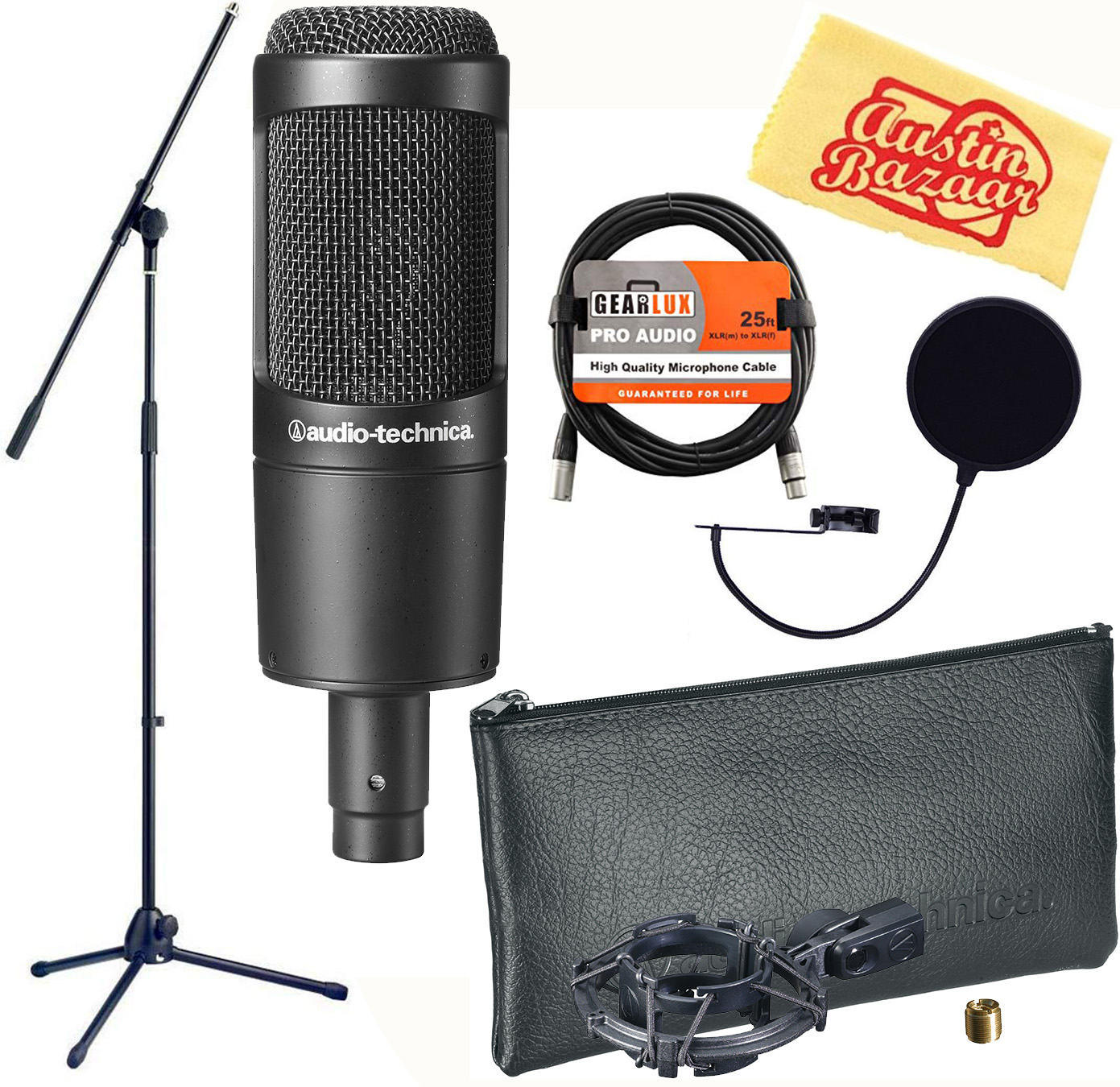 audio technica at2035 cardioid condenser microphone w boom stand 4961310101756 ebay. Black Bedroom Furniture Sets. Home Design Ideas