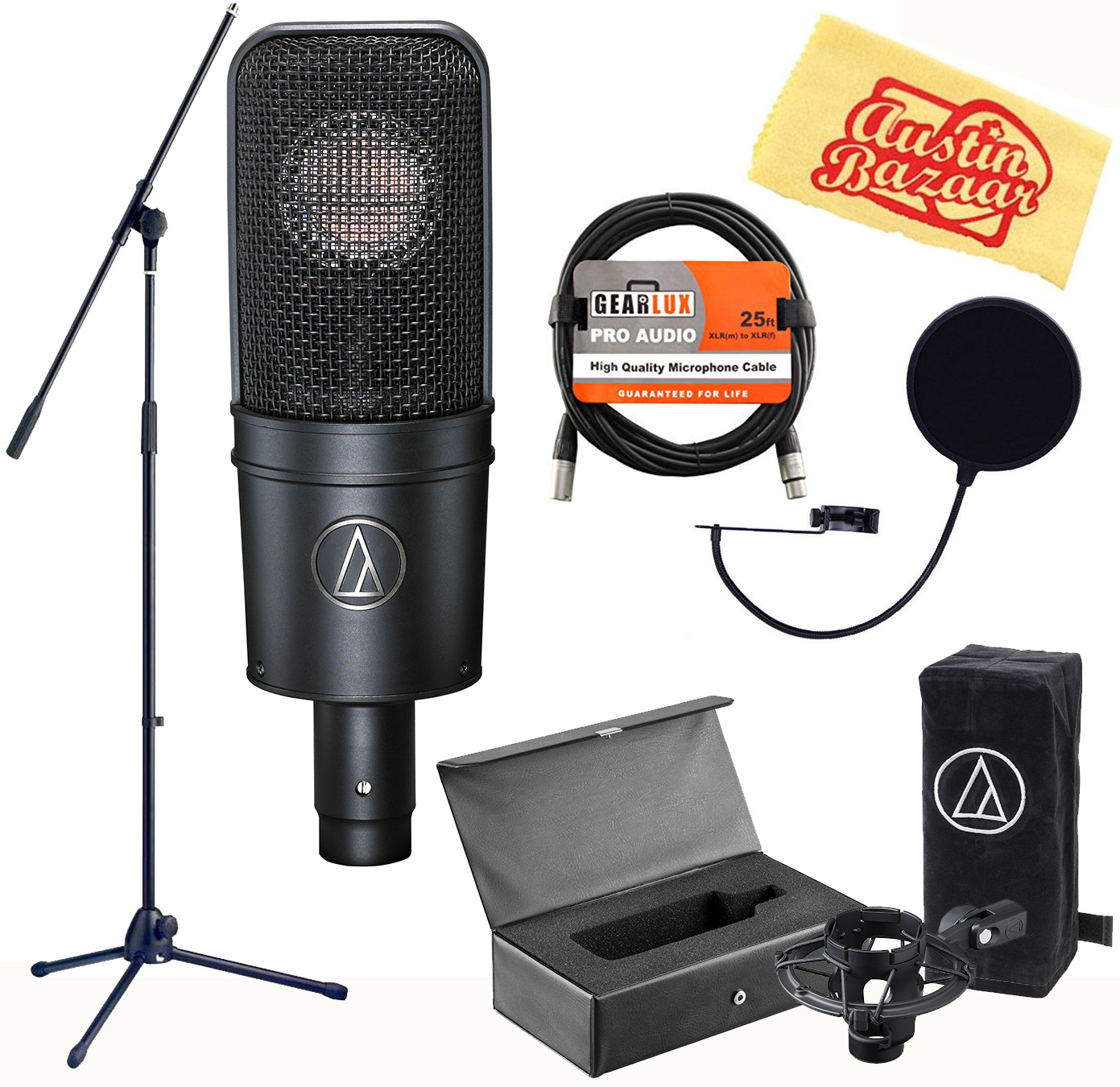 Audio-Technica AT4040 Cardioid Condenser Microphone w ...