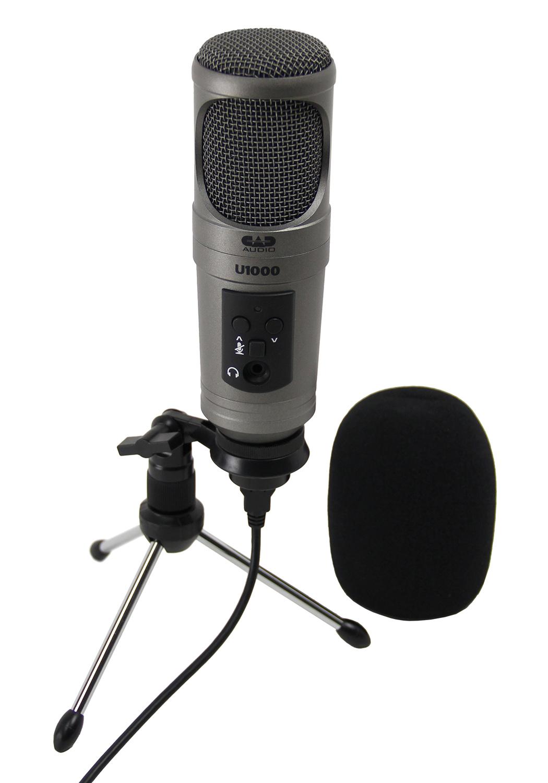 cad u1000 usb studio condenser microphone 689739946003 ebay. Black Bedroom Furniture Sets. Home Design Ideas