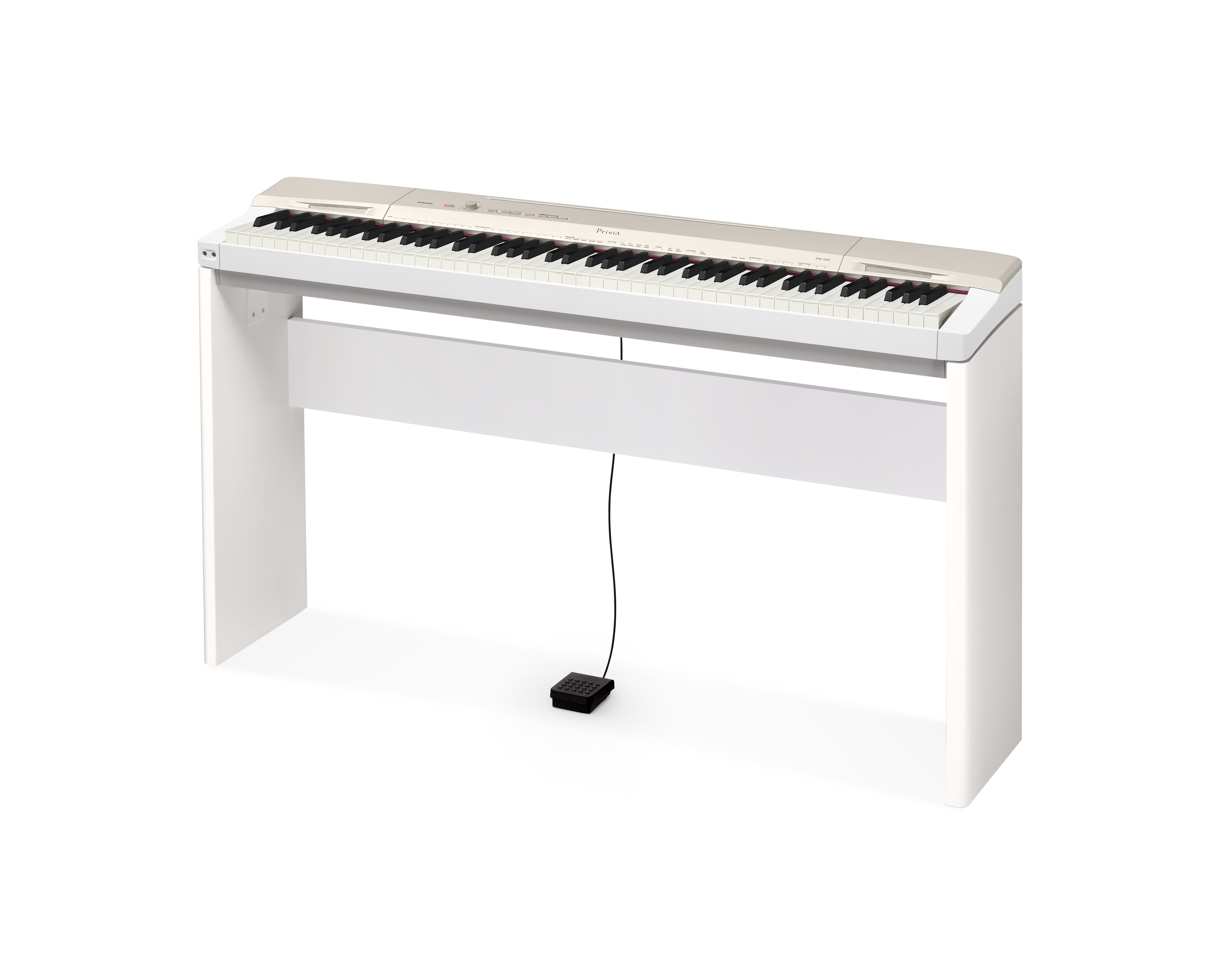 casio privia px 160 digital piano champagne gold w cs 67 stand sp 33 pedal ebay. Black Bedroom Furniture Sets. Home Design Ideas