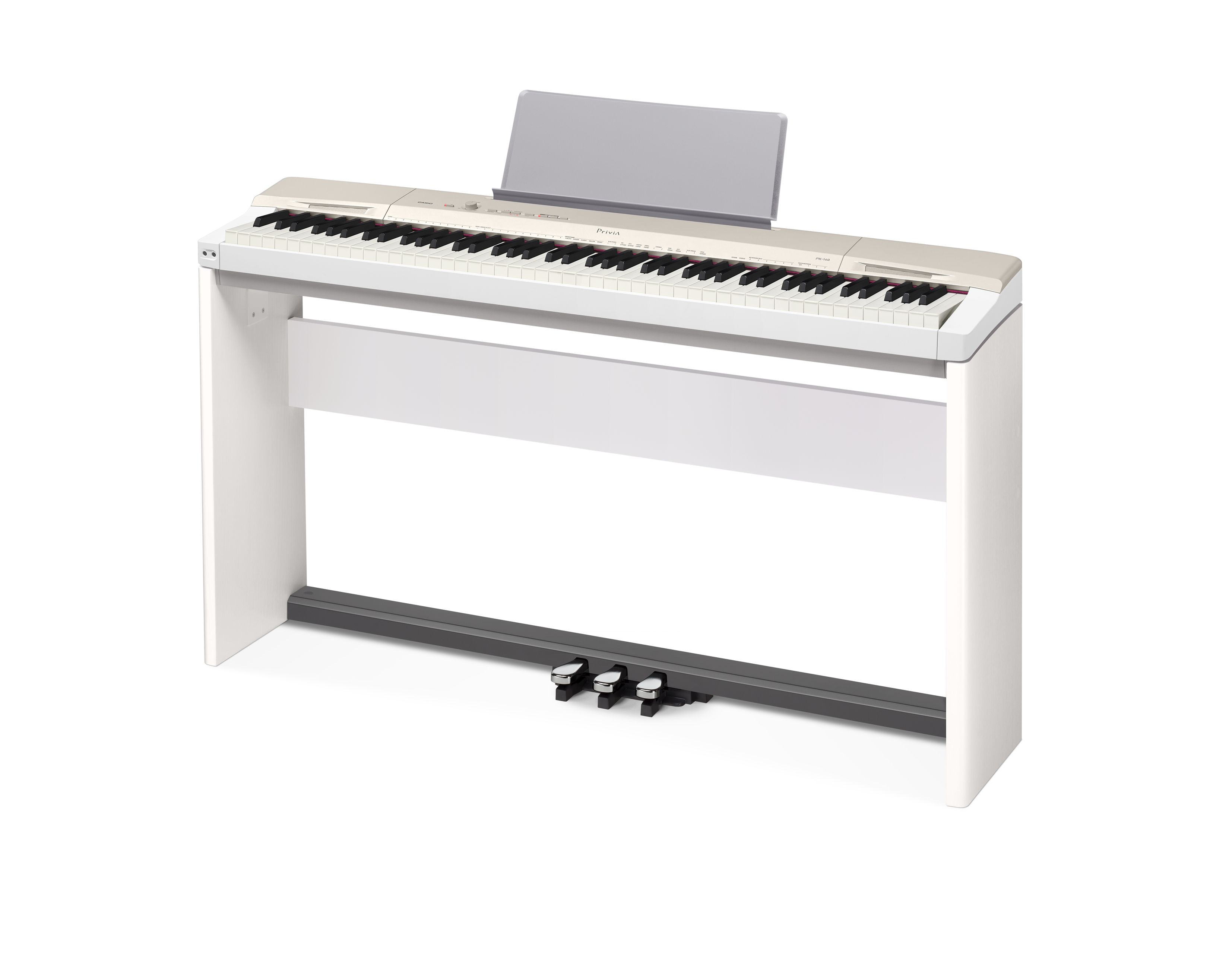 casio privia px 160 digital piano champagne gold w cs 67 stand sp 33 pedal ebay. Black Bedroom Furniture Sets. Home Design Ideas
