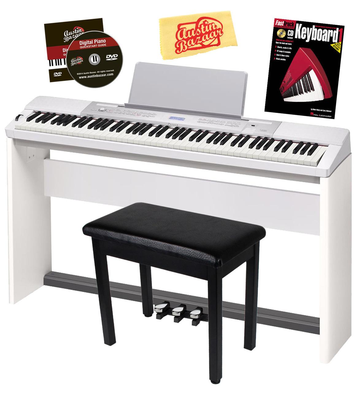 casio privia px 350 digital piano white w cs 67 stand sp 33 pedal ebay. Black Bedroom Furniture Sets. Home Design Ideas
