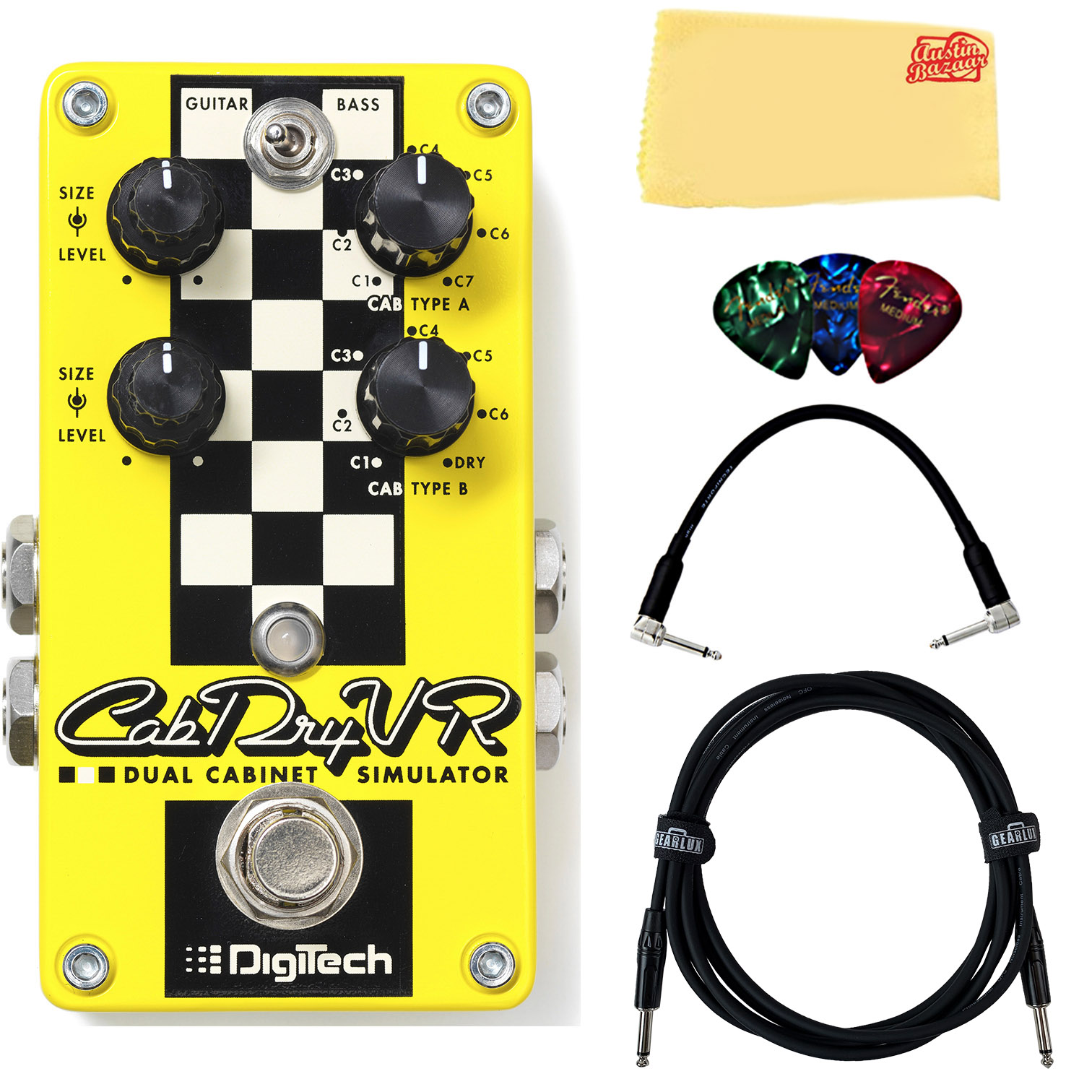 DigiTech CabDryVR Dual Cabinet Simulator Pedal w  Cables