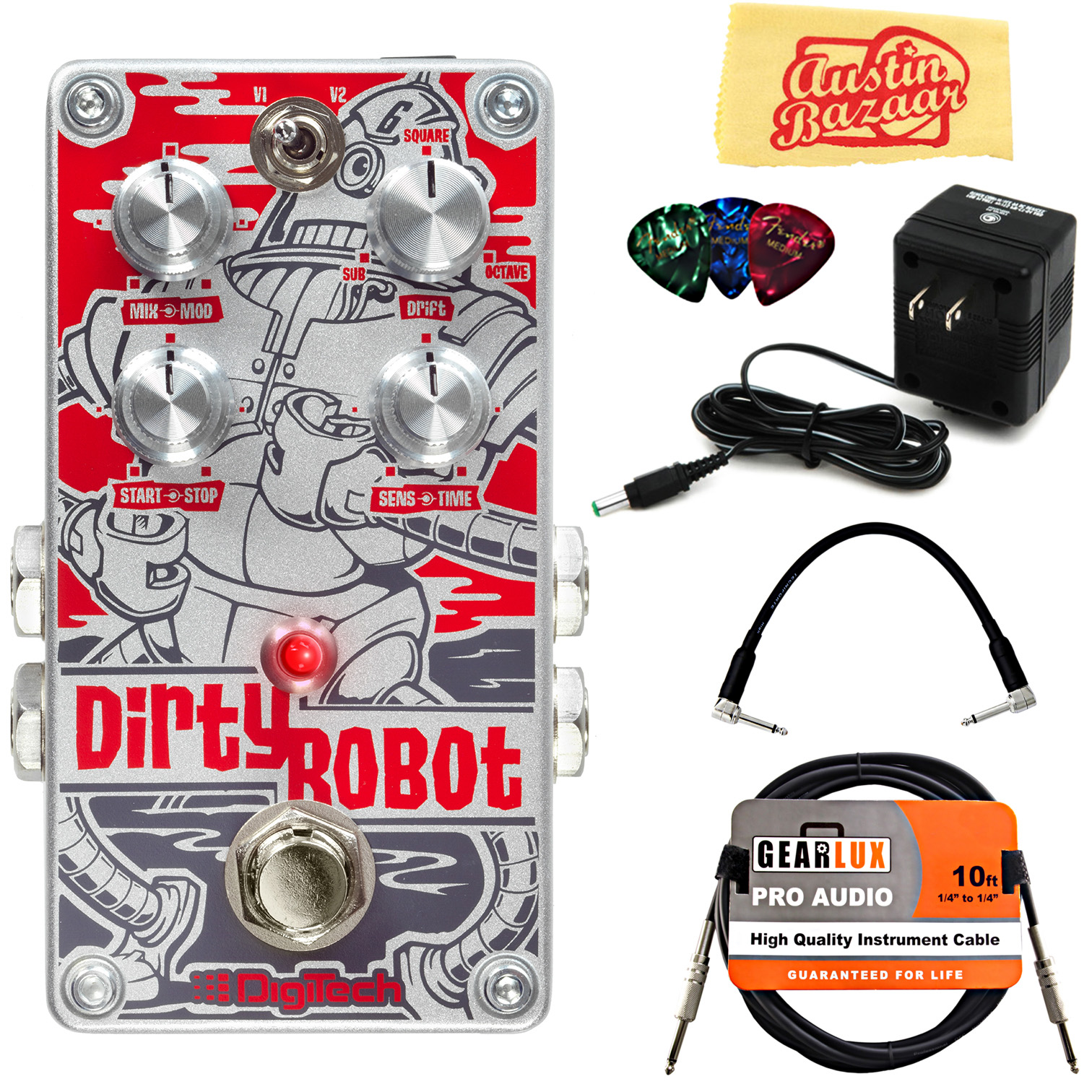 DigiTech DirtyRobot Stereo Mini-Synth Pedal w/ Power Supply