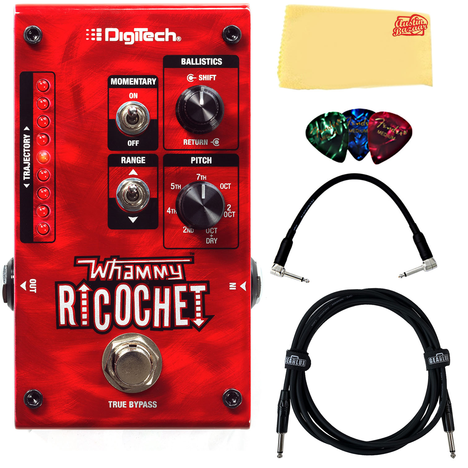 DigiTech Whammy Ricochet Pitch Shift Pedal w  Cables