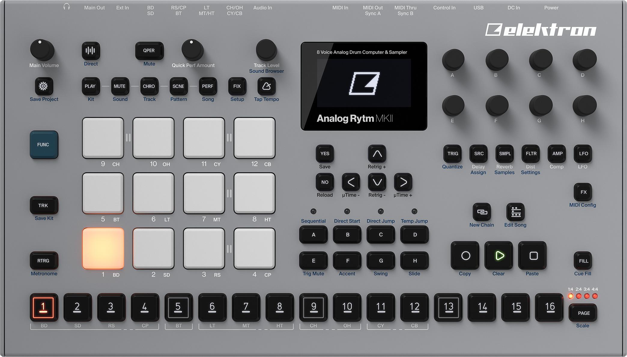 Elektron Analogique Rytm Mkii 8-voice Drum Computer & Sampler-afficher Le Titre D'origine Forfaits à La Mode Et Attrayants