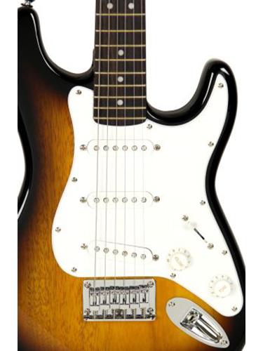 squier by fender mini strat electric guitar sunburst ebay. Black Bedroom Furniture Sets. Home Design Ideas