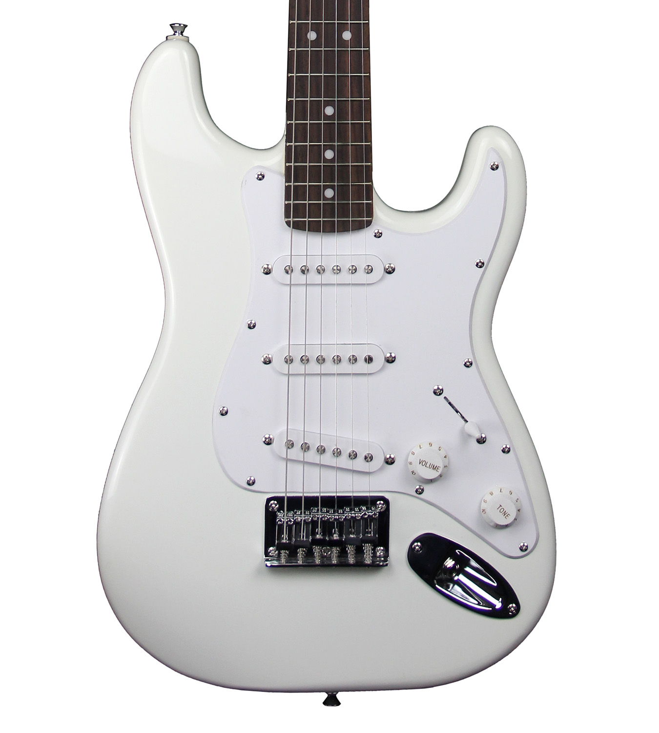 squier by fender mini strat electric guitar arctic white ebay. Black Bedroom Furniture Sets. Home Design Ideas