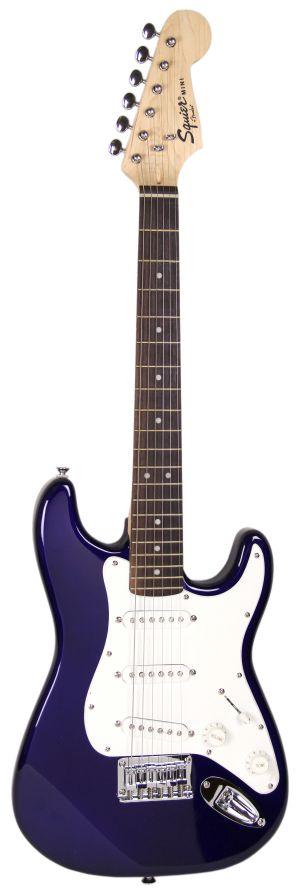squier by fender mini strat electric guitar blue ebay. Black Bedroom Furniture Sets. Home Design Ideas