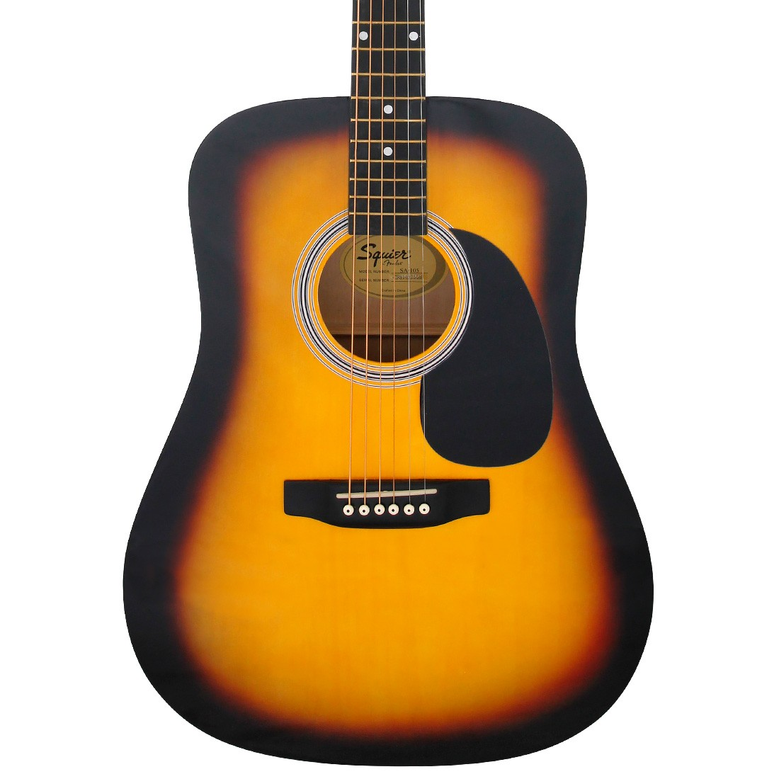 squier by fender sa 105 acoustic guitar sunburst ebay. Black Bedroom Furniture Sets. Home Design Ideas