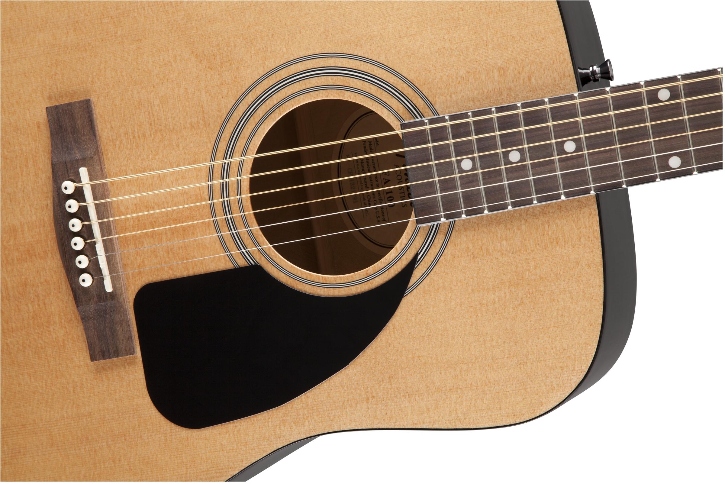 fender fa 100 acoustic guitar natural w hard case ebay. Black Bedroom Furniture Sets. Home Design Ideas