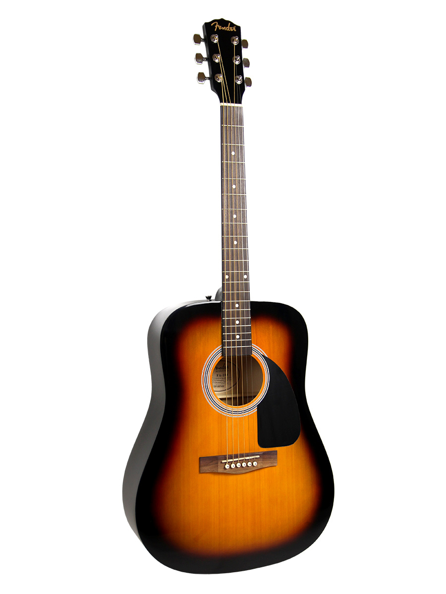 fender fa 100 acoustic guitar sunburst w hard case ebay. Black Bedroom Furniture Sets. Home Design Ideas