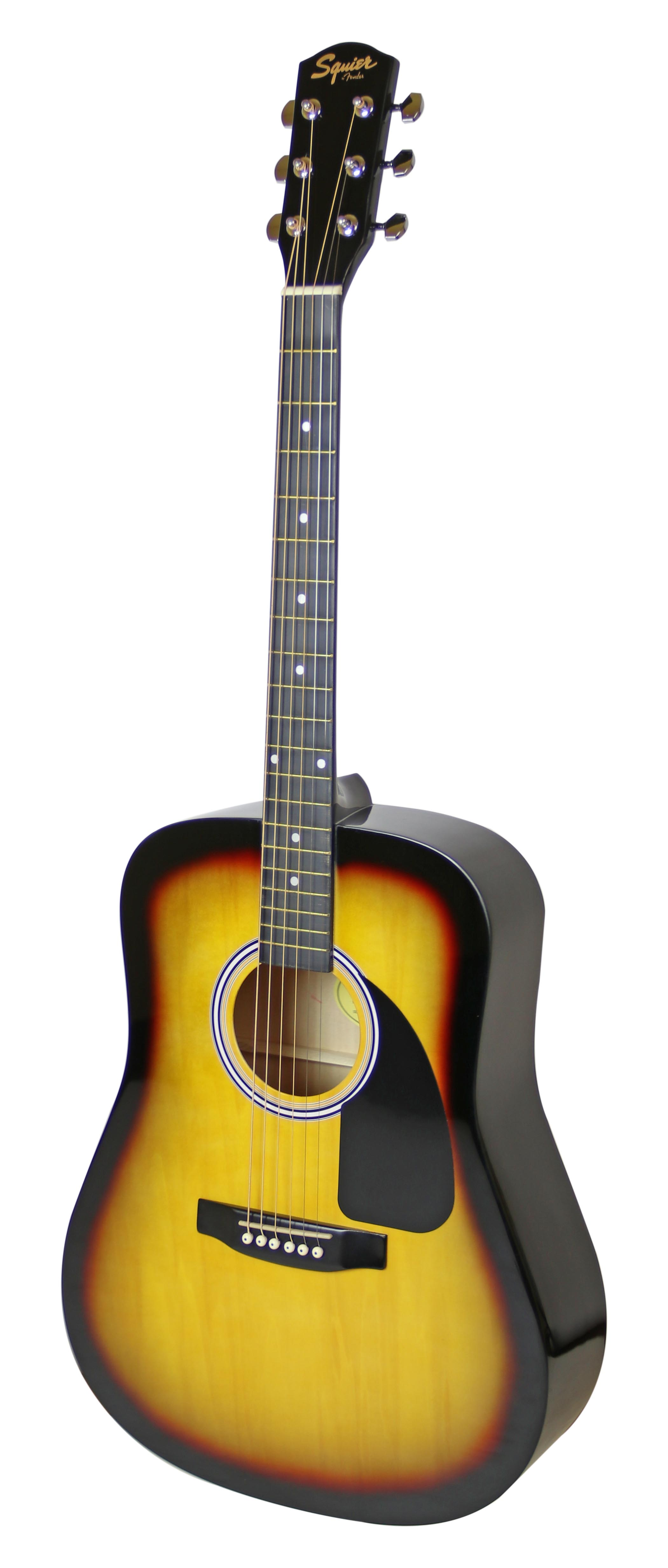 squier by fender sa 150 dreadnought acoustic guitar sunburst 885978857371 ebay. Black Bedroom Furniture Sets. Home Design Ideas