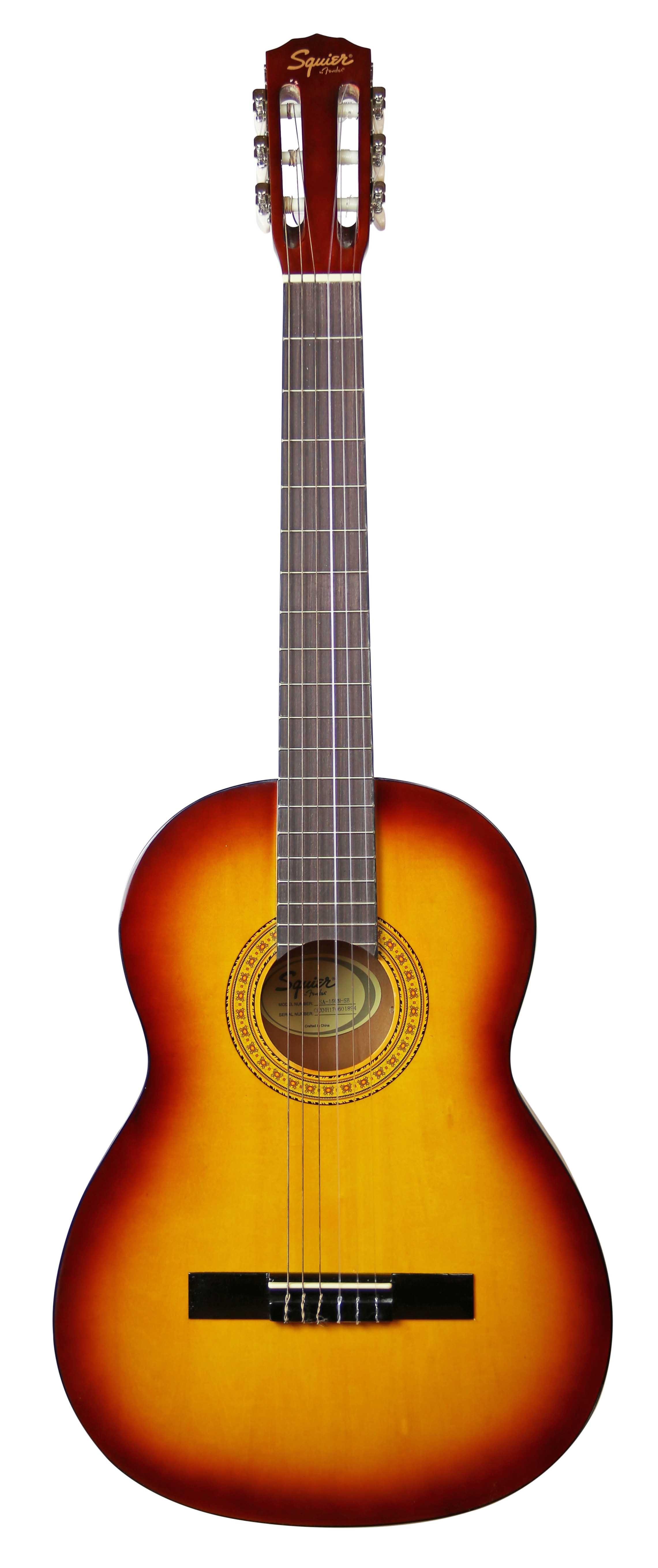 squier by fender sa 150 classical acoustic guitar sunburst ebay. Black Bedroom Furniture Sets. Home Design Ideas