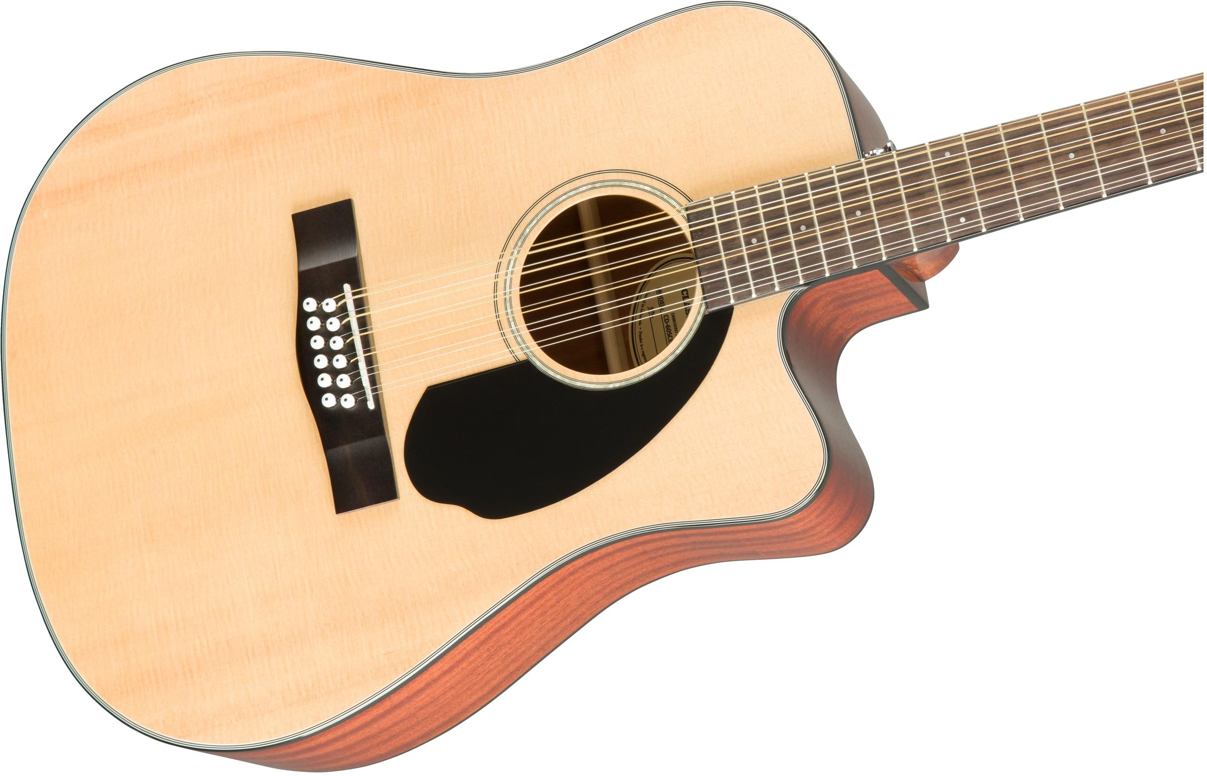 fender cd 60sce 12 dreadnought acoustic electric guitar 12 string natural 712828172189 ebay. Black Bedroom Furniture Sets. Home Design Ideas
