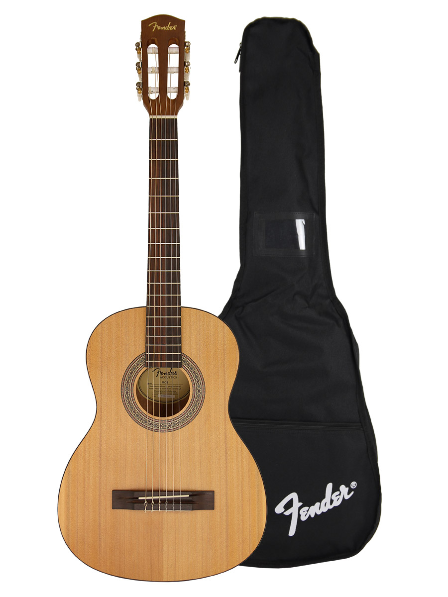 fender mc 1 3 4 size classical acoustic guitar ebay. Black Bedroom Furniture Sets. Home Design Ideas