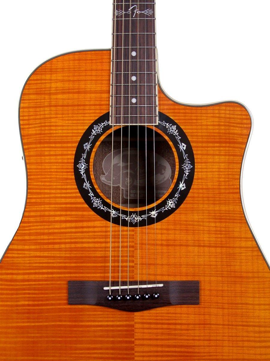 fender t bucket 300ce dreadnought acoustic electric guitar orange ebay. Black Bedroom Furniture Sets. Home Design Ideas