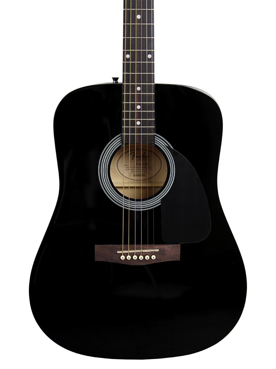 fender fa 115 dreadnought acoustic guitar black w gig bag 660845726123 ebay. Black Bedroom Furniture Sets. Home Design Ideas