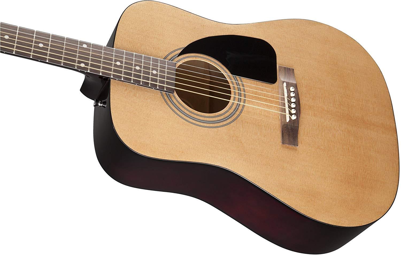 Fender-FA-100-Dreadnought-Acoustic-Guitar-Natural thumbnail 3