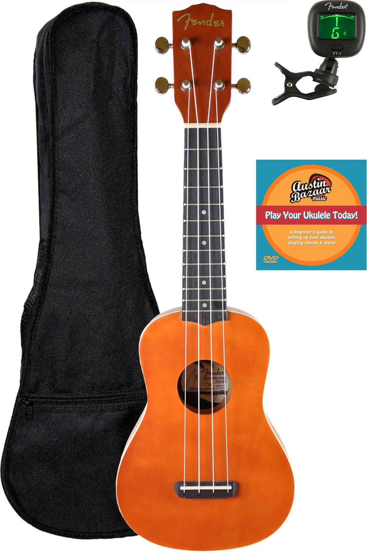 Fender Hermosa Soprano Ukulele w  Gig Bag