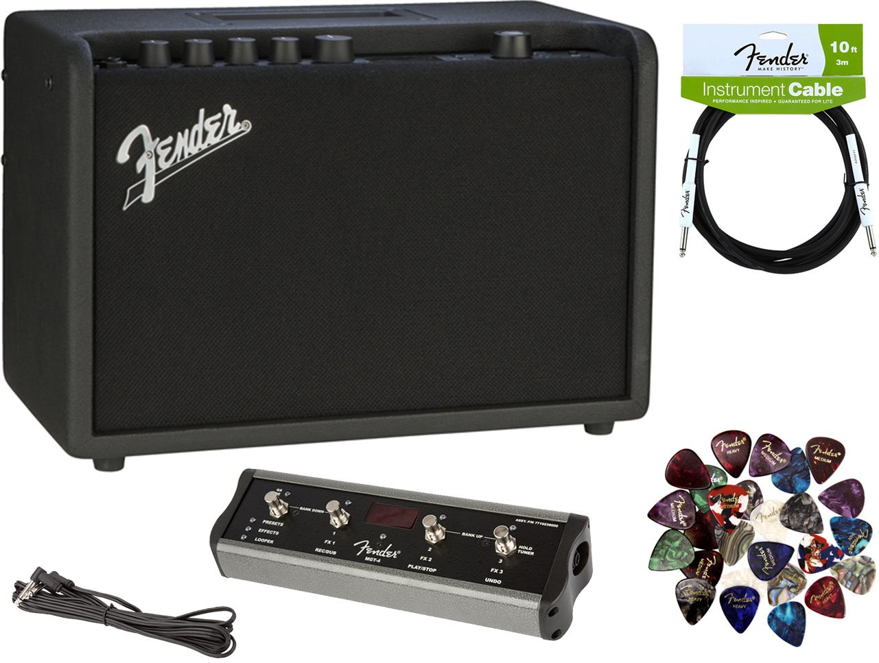 fender mustang gt 40 guitar amplifier w mgt 4 footswitch ebay. Black Bedroom Furniture Sets. Home Design Ideas