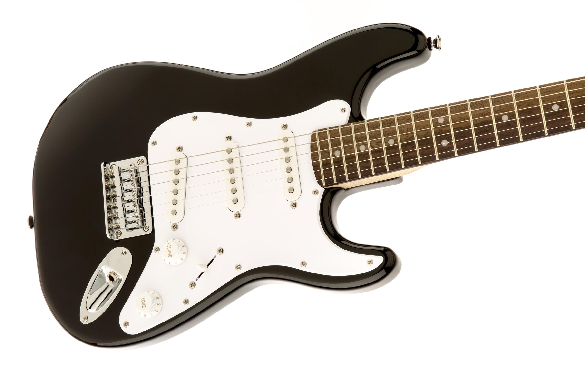 squier by fender mini strat electric guitar black w amp 717669176846 ebay. Black Bedroom Furniture Sets. Home Design Ideas