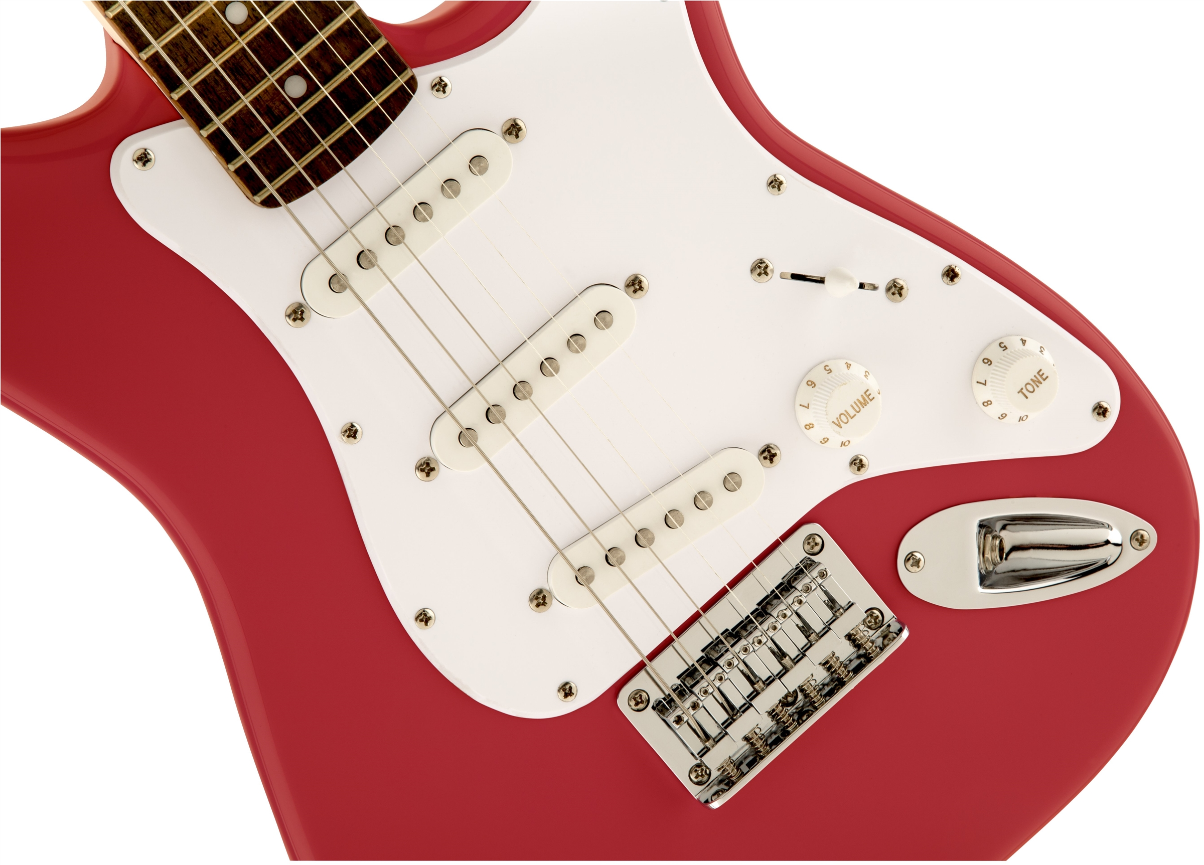 squier by fender mini strat electric guitar torino red w amp 717669176853 ebay. Black Bedroom Furniture Sets. Home Design Ideas