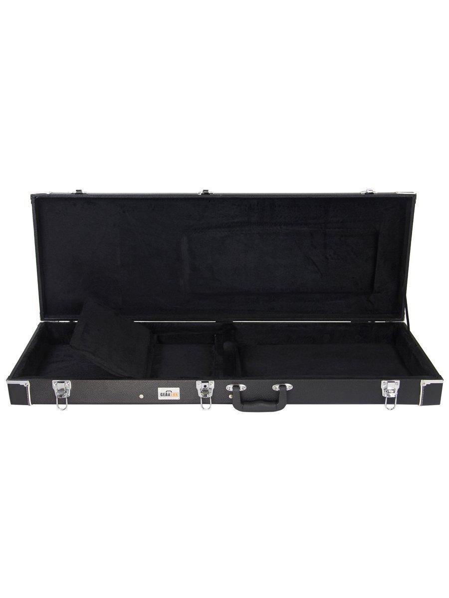 gearlux bass guitar hard case 712392905176 ebay. Black Bedroom Furniture Sets. Home Design Ideas