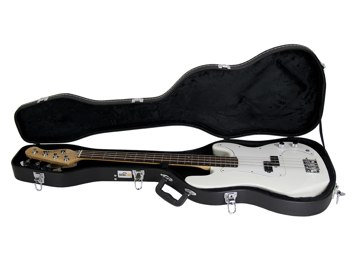 gearlux electric bass guitar hard case ebay. Black Bedroom Furniture Sets. Home Design Ideas