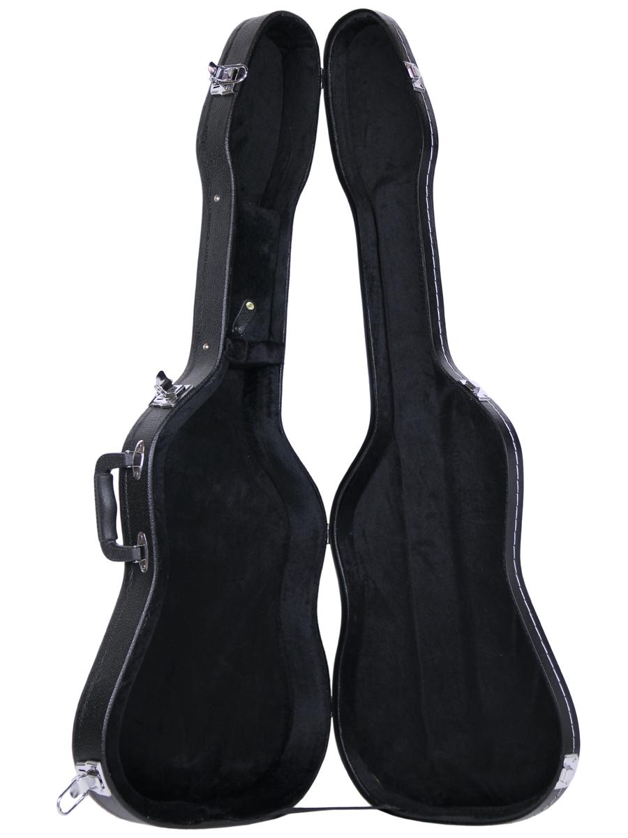 gearlux electric guitar hard case shaped 741459810757 ebay. Black Bedroom Furniture Sets. Home Design Ideas