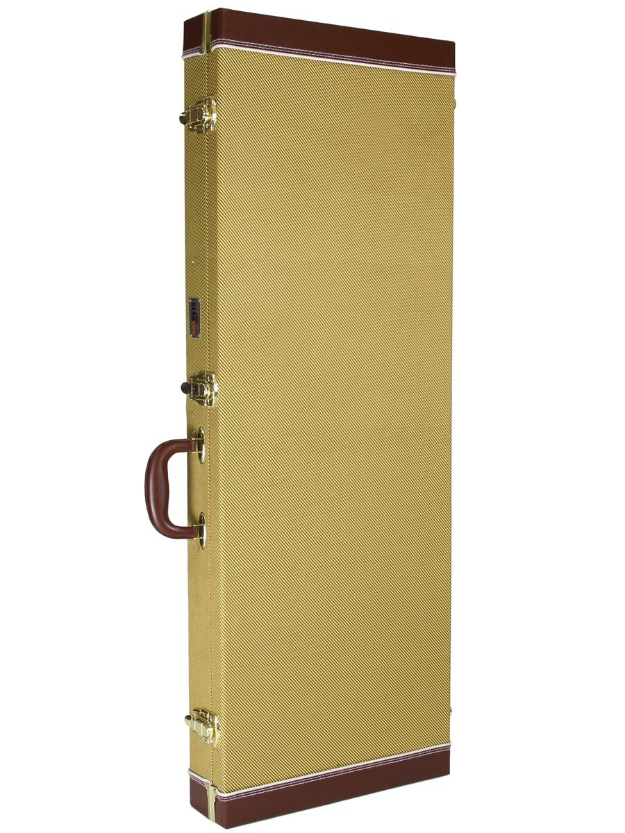 gearlux rectangular electric guitar hard case tweed ebay. Black Bedroom Furniture Sets. Home Design Ideas