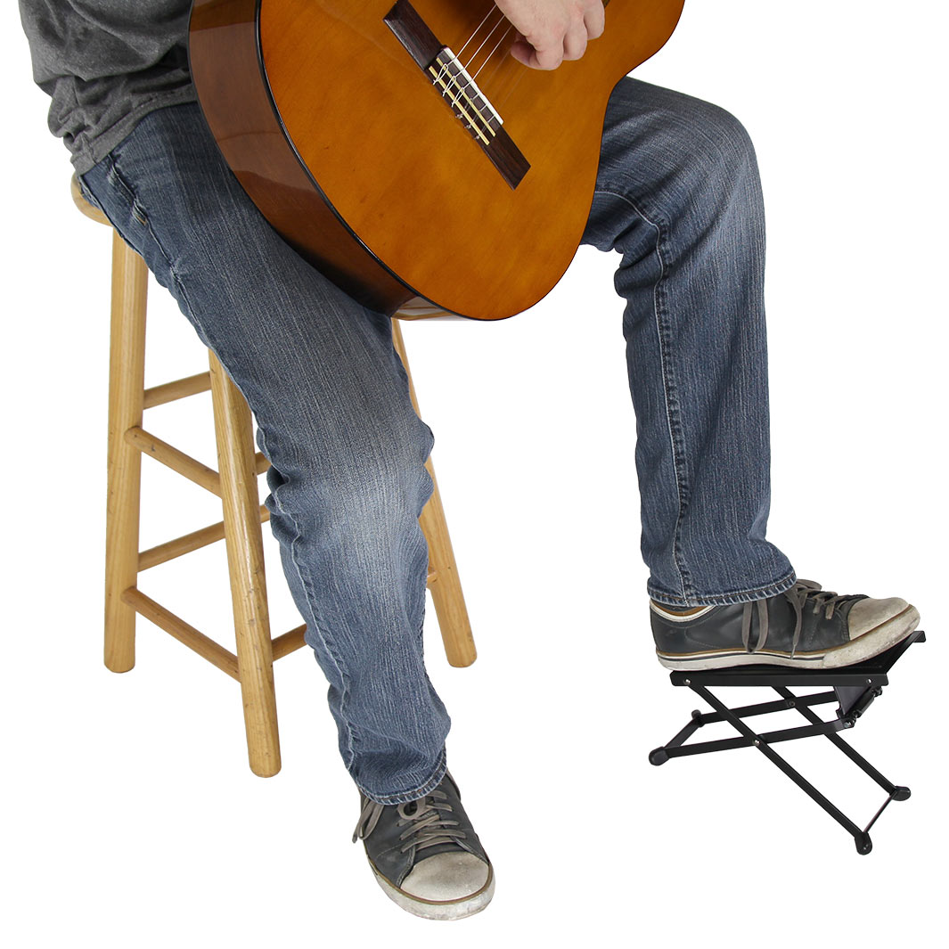 gearlux guitar foot rest ebay. Black Bedroom Furniture Sets. Home Design Ideas