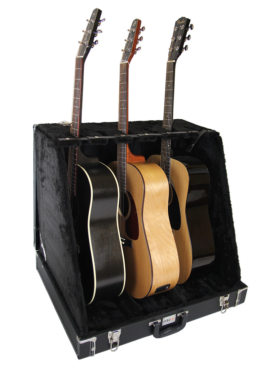 gearlux guitar stand case for 6 electric or 3 acoustic guitars 660845713970 ebay. Black Bedroom Furniture Sets. Home Design Ideas