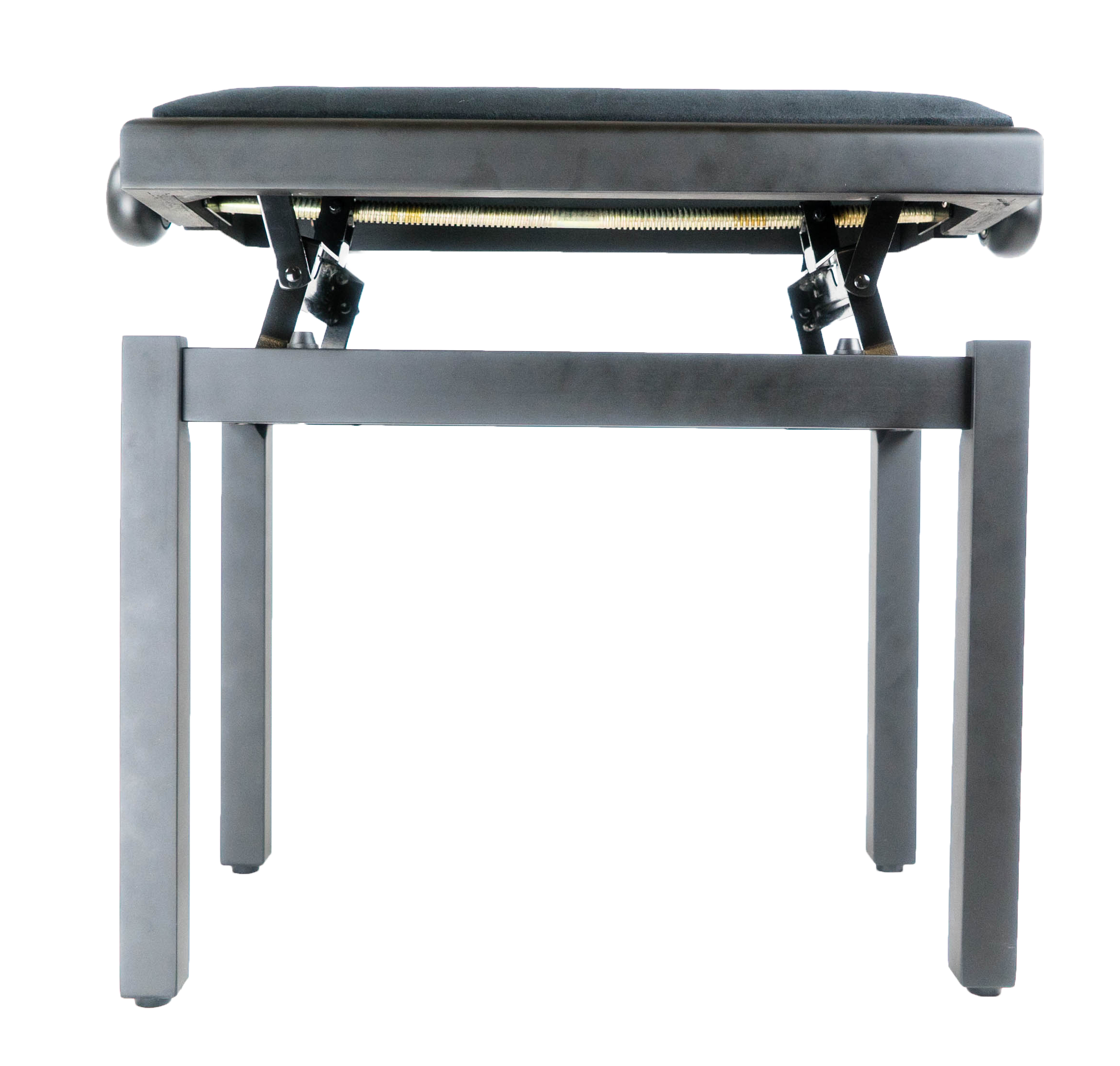 Gearlux Adjustable Piano Bench With Smooth Velvet Top Black Matte Ebay