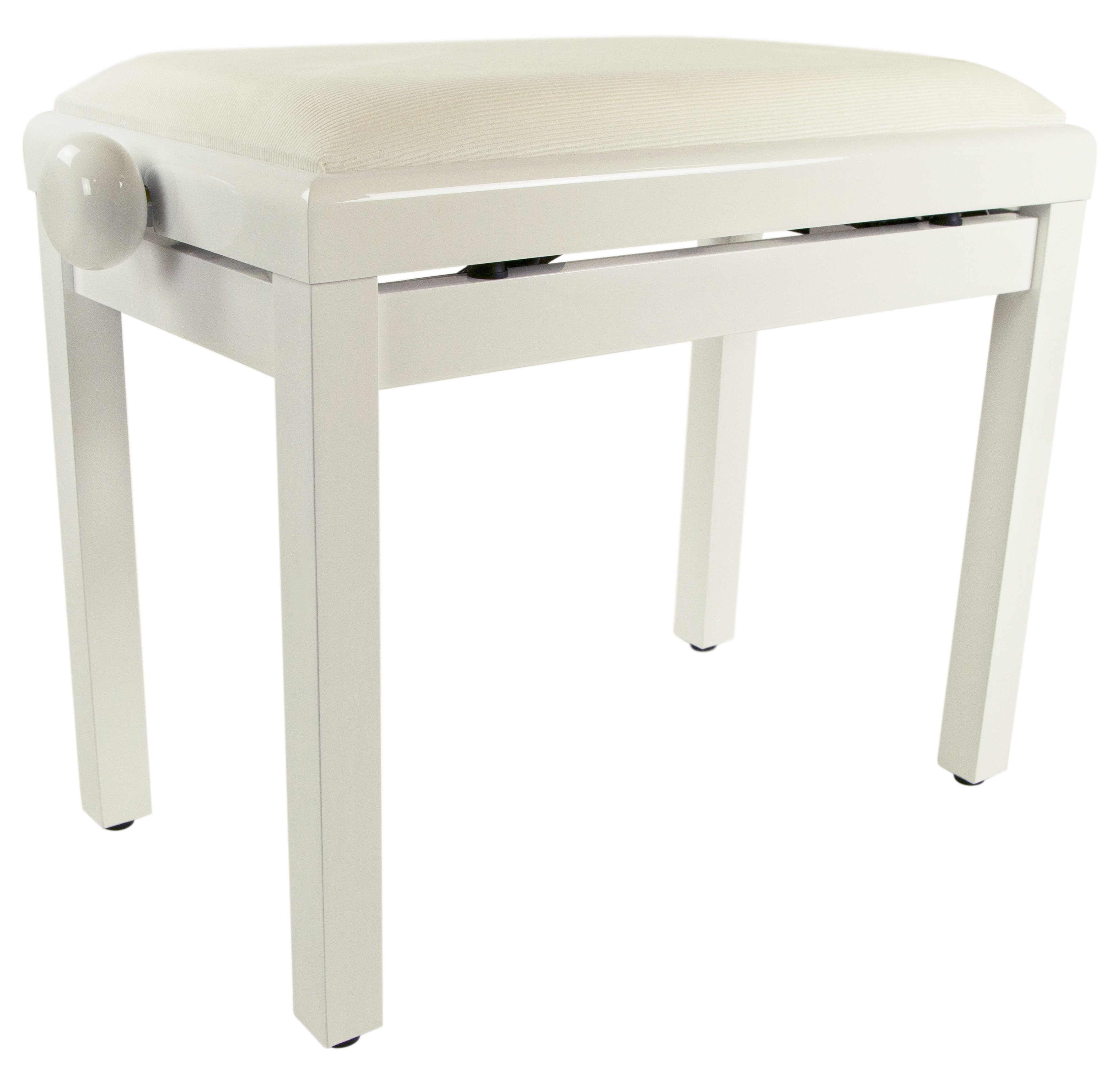 Gearlux Adjustable Piano Bench With Velvet Top White Gloss Ebay