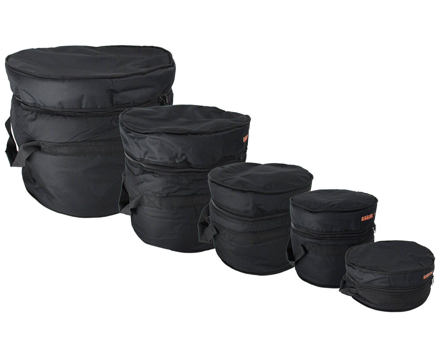 Gearlux drum bag set 12 tom 13 tom 14 snare 16 for 13 inch floor tom