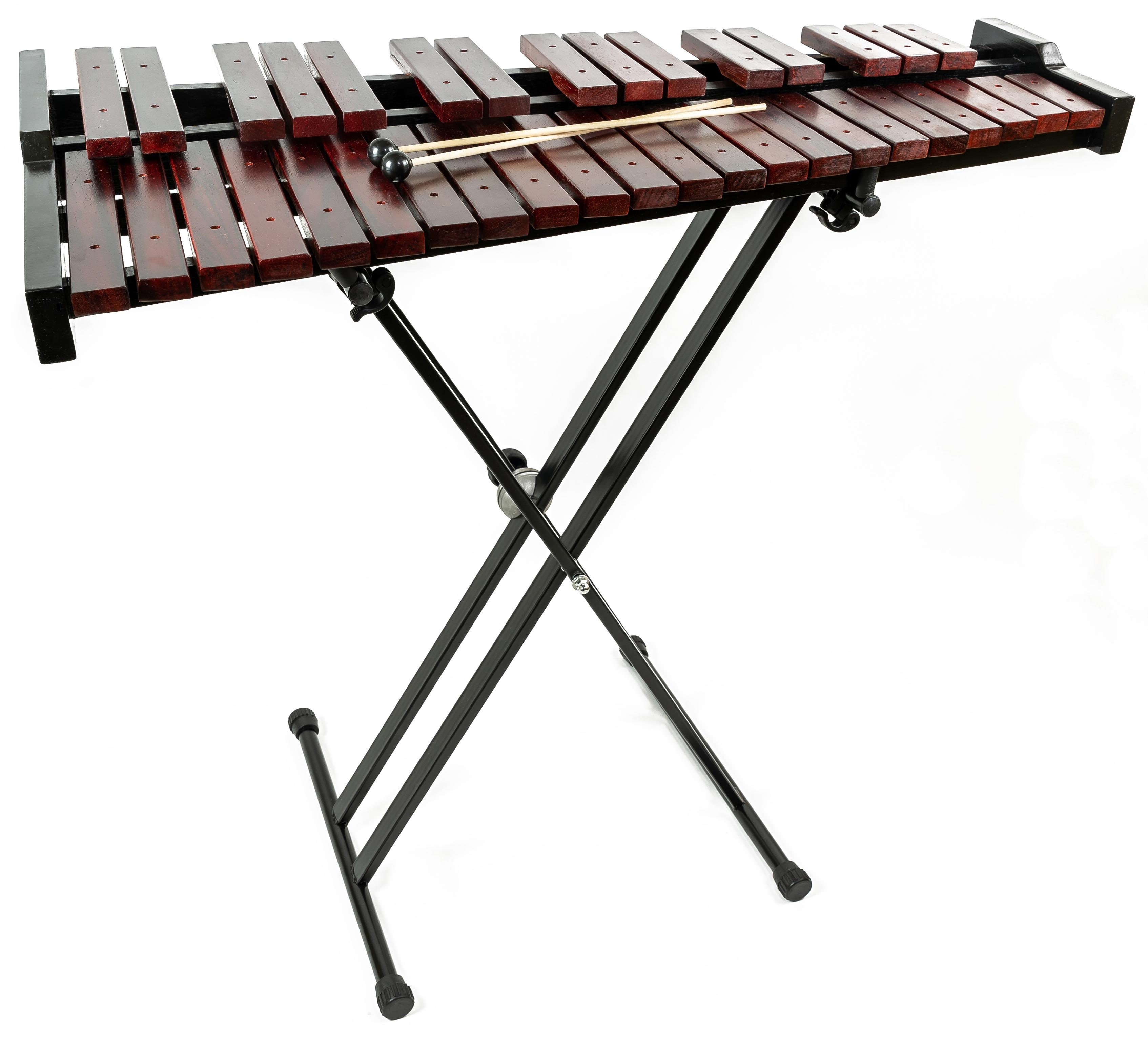 Gearlux 37-Key Wooden Xylophone w/ Mallets, Stand ...