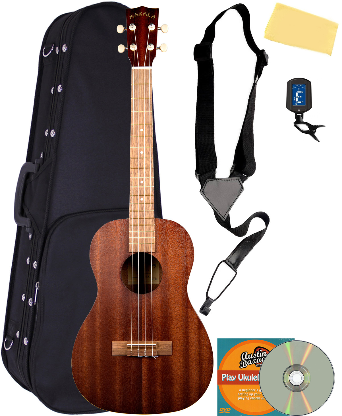 kala mk b makala baritone ukulele w hard case ebay. Black Bedroom Furniture Sets. Home Design Ideas