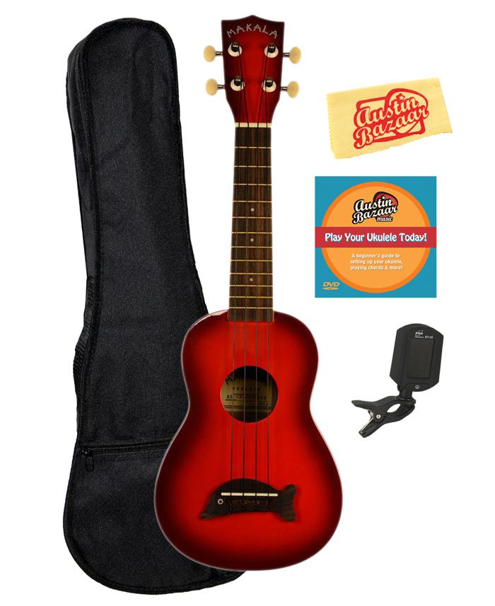 kala makala dolphin soprano ukulele choose color red burst for sale online ebay. Black Bedroom Furniture Sets. Home Design Ideas