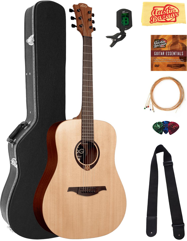 acoustic guitars lag t70d tramontane dreadnought bundle with hard case tuner for sale online ebay. Black Bedroom Furniture Sets. Home Design Ideas